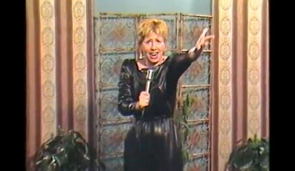 "Lucille Cataldo performing her song ""Hairdresser"" on Stairway to Stardom"