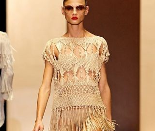 Macrame beachwear from Gucci