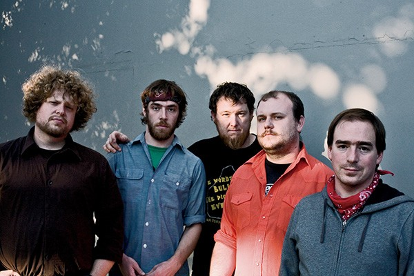 Magnolia Electric Co. in 2006; from left: Jason Evans-Groth, Mark Rice, Pete Schreiner, Michael Kapinus, and Jason Molina - DAN PETERSON
