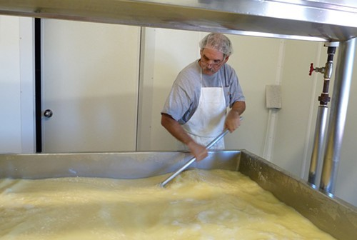 Making cheese at Uplands