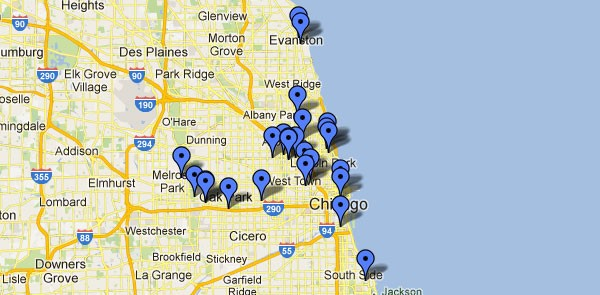 [map of Record Store Day locations]