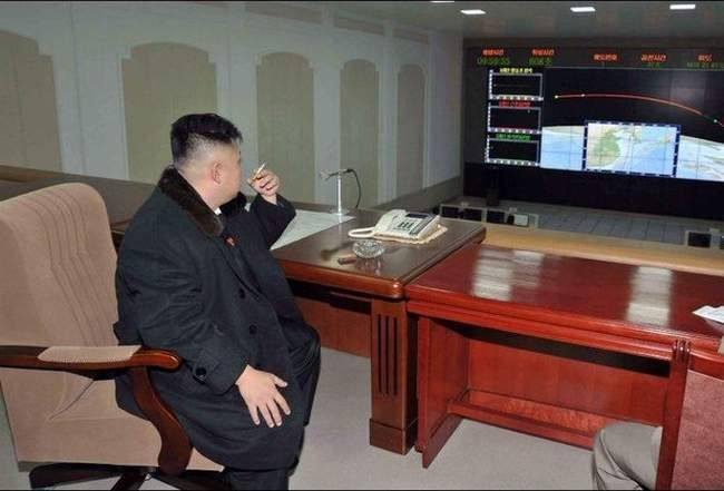 Marshal of North Korea Kim Jong-un awaiting visitors from the West