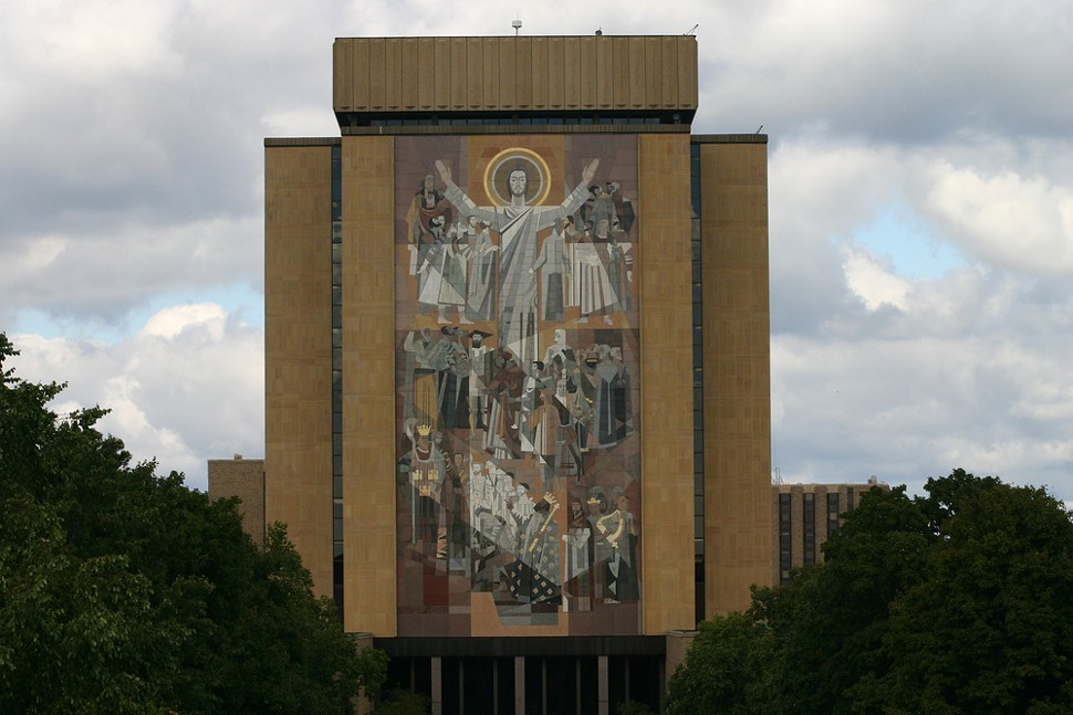 May Touchdown Jesus bring us the bounty of an Irish setback or ten