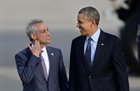 Mayor Rahm Emanuel, the name-dropper