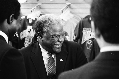 Mayor Harold Washington, shown here in 1986, dropped out of DuSable high school, then earned his degree in an unusual way.