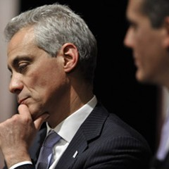 Mayor Rahm appears to be deep in though in this picture, but when it comes to the ISATs, it's hard to know what he's thinking.