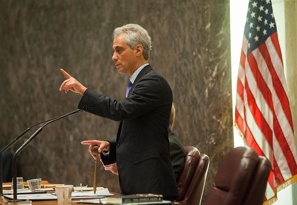 Mayor Rahm Emanuel addresses the Chicago City Council July 24. The council's vote that day was the first and probably last chance to stop the South Loop basketball arena project.