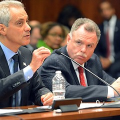 Mayor Rahm Emanuel, with police Superintendent Garry McCarthy at his side, wants to lighten up on low-level drug offenders while cracking down on those who violate gun laws.