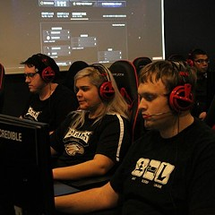 Members of Robert Morris University's eSports team get their gaming on.
