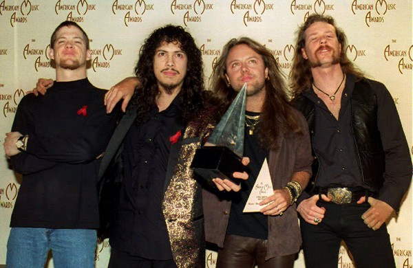 Metallica during the Jason Newsted era - COURTESY BB GUN PRESS
