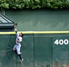<em>Michael Brantley Robs Alex Rios of a Home Run.</em> US Cellular Field, May. By Paul Boucher
