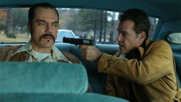 Michael Shannon and Ray Liotta play real-life criminals Richard Kuklinski and Roy DeMeo