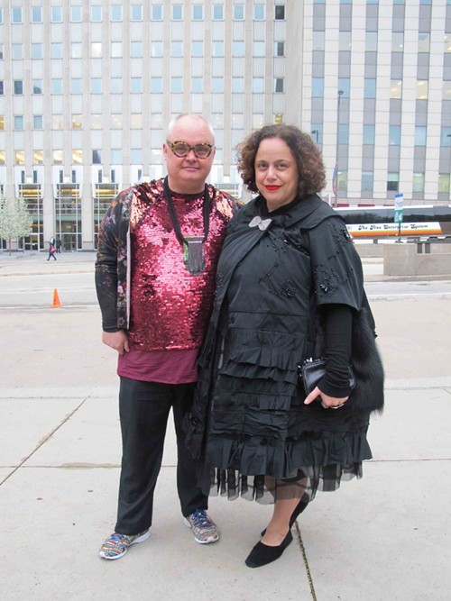 Mickey Boardman from Papermag and Ikram Goldman
