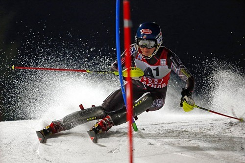 Mikaela Shiffrin competing in Flachau, Austria earlier this month