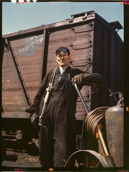 Mike Evans, car repairman/welder, Proviso Yard, April 1943