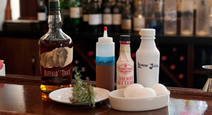 Mike Freeman makes his P'nut-Bourbon Julep