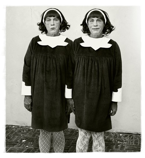 Miller and Malkovichs take on Diane Arbuss photograph Identical Twins, Roselle, New Jersey, 1967