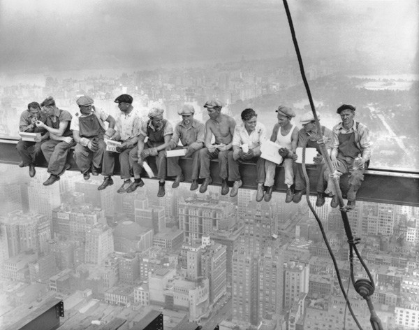 New York Construction Workers Lunching on a Crossbeam by Charles C. Ebbets