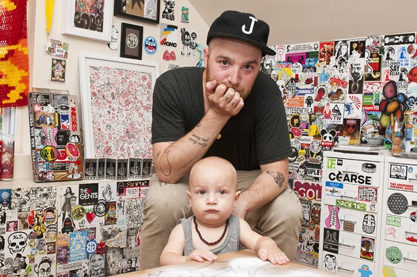 Nick Marzullo with his son, Lincoln