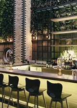 Nico's seductive bar, with its wall of vegetation - JEFFREY MARINI