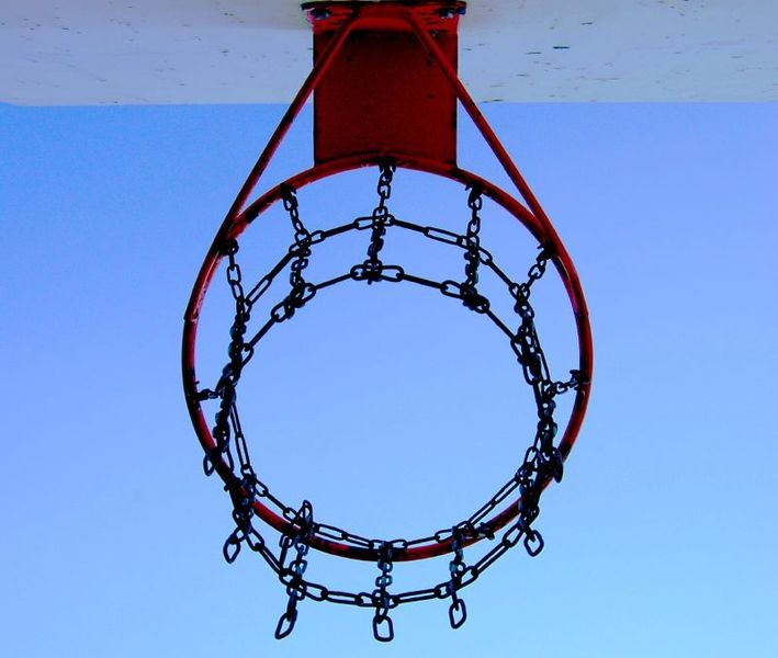 No NCAA tourney games will be playing using this hoop.