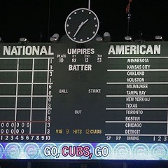 Note the clock. That's AM--this morning. The Cubs had just beaten the Rockies.