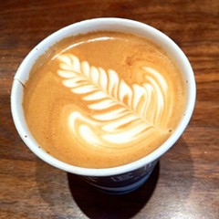 now, that's a rosetta!  and in a paper cup!