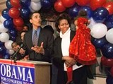 Obama delivers his concession speech after losing to Bobby Rush in the Democratic primary. - FRANK POLICH/AP