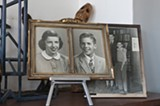 Old photographs of Roth's relatives. - ANDREA BAUER