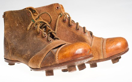 Old-school cleats, Czech style.