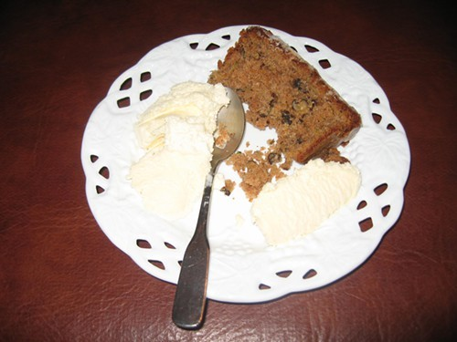 Olive-oil zucchini cake, from a Scafuri family recipe