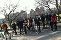"On the scene at Cranksgiving Chicago, the annual ""food drive on two wheels"""