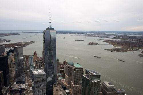 One World Trade Center: Supposedly the tallest now