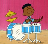 Original production cel of Franklin from a Peanuts TV special - COURTESY OF THE MUSEUM OF UNCUT FUNK