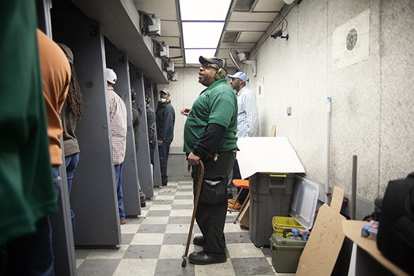 Participants in Vernon's two-day conceal-and-carry course spend a full day in the classroom before heading to the firing range. - JOHN STURDY