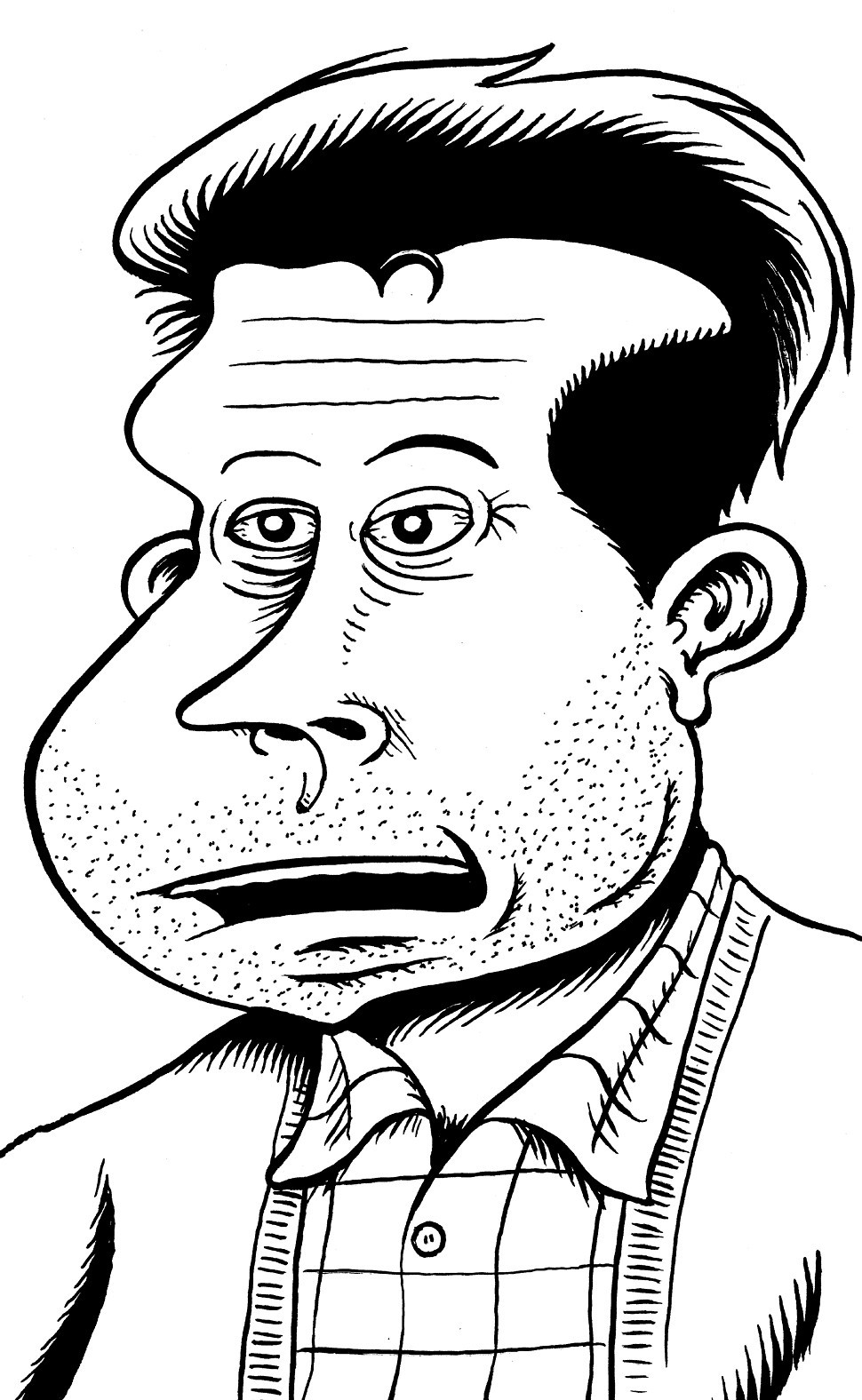 Peter Bagge, a self portrait