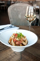 Lobster poutine (not shown: regular poutine and poutine pizza) - ANDREA BAUER
