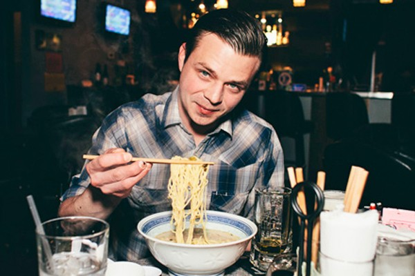 [photograph of Jeff Pikus, ramen]