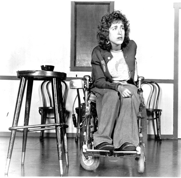 [photograph of Susan Nussbaum circa 1983]