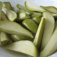 One Bite: pickled pears