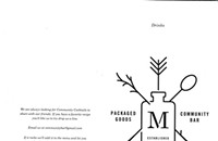 Purloined Menus From Maria's Packaged Goods and Community Center