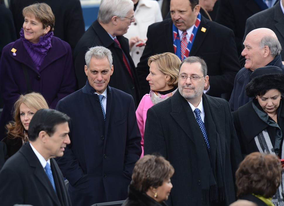Rahm Emanuel at President Obamas inauguration Monday