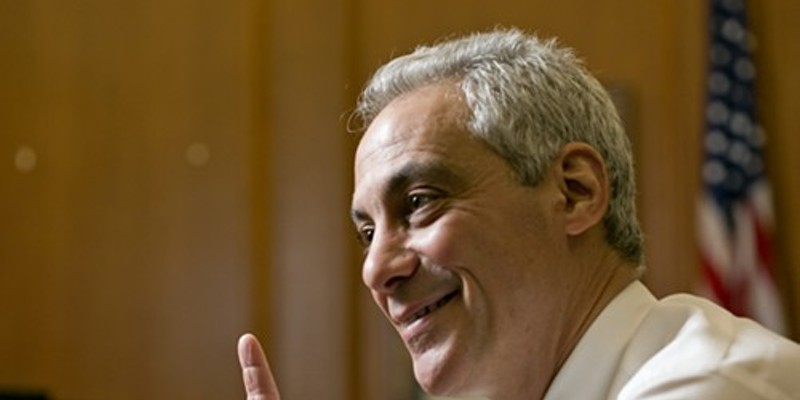 Rahm Emanuel has donors in Los Angeles who want to help him stay in office in  Chicago.