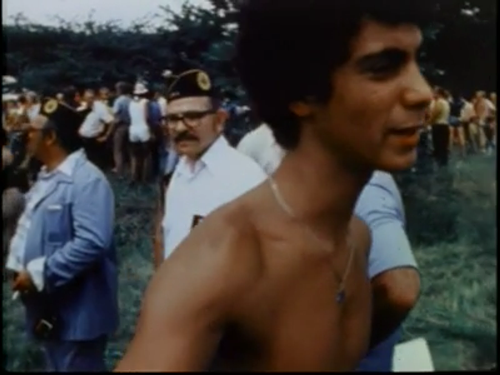 Rahm, still shirtless, in <i>Marquette Park II</i>
