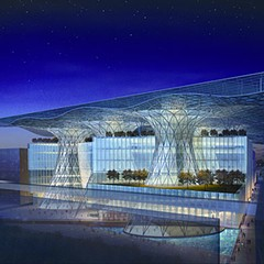 Rendering of Masdar Headquarters in the United Arab Emirates by Gordon Gill
