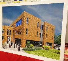 Rendering of the annex that will boost Payton College Prep's capacity from 900 students to at least 1,200