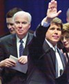 Richard Mell and Rod Blagojevich in 2002