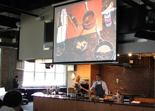 Rick Bayless presenting at Modern Mexican