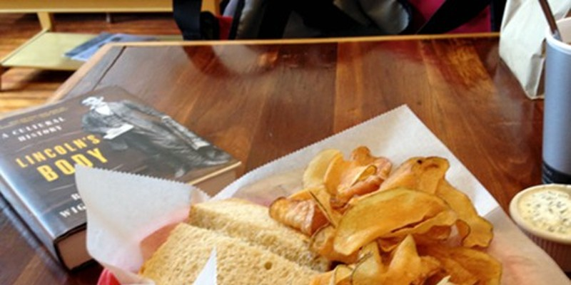 Roast beef sandwich and chips