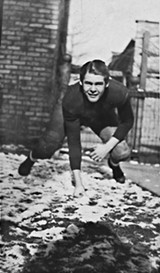 Robert Ryan as a football player for Loyola Academy